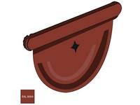Čelo žlabu 250 mm pozink RAL 8004 cihlově červená barva