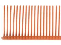 MDM NT větrací mřížka 55mm/1 bm červená