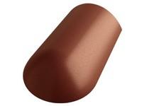 Betonpres Exclusiv hřebenáč koncový včetně vrutu červenohnědá